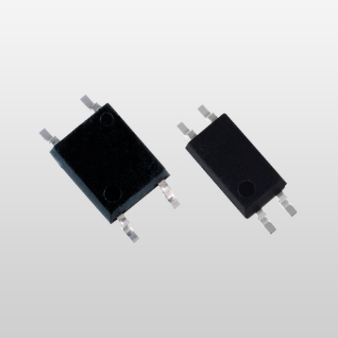 Toshiba's low input current type transistor output photocouplers in SO6 package (left) and SO4 package (right). (Photo: Business Wire)