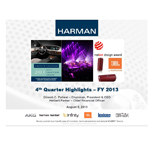 HARMAN 4Q FY2013 Supporting Slide Deck August 6 2013