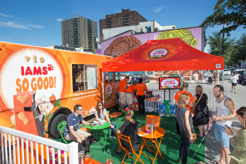 The first ever travelling food truck for dogs by Iams - the SO GOOD! Doggie Cafe - celebrating their ...