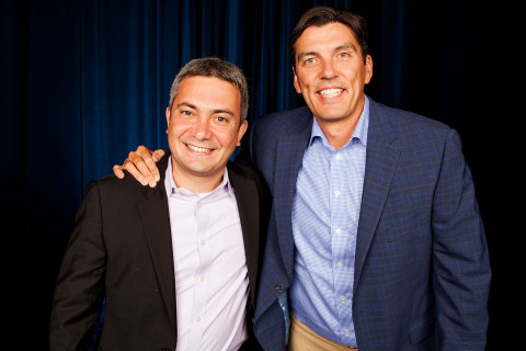 Amir Ashkenazi, CEO, Adap.tv (left) and Tim Armstrong, Chairman & CEO, AOL (right) (Photo: Business Wire)
