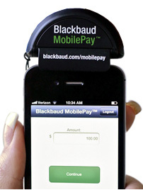 Blackbaud MobilePay card reader and application (Photo: Business Wire)
