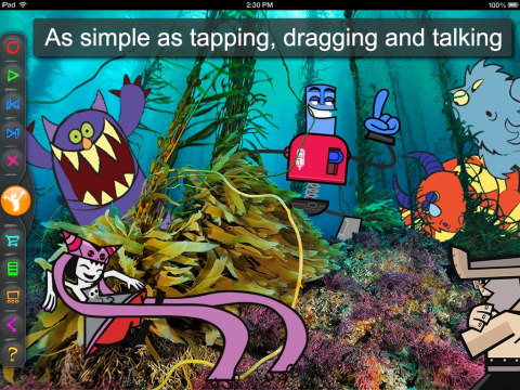 Trigger Happy's Toon Hero app is as easy as tapping, dragging and talking. (Photo: Business Wire)