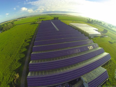 Enphase Energy microinverter technology deployed by Sentinel Solar in 2.3MW (2MW AC) solar project in Ontario, Canada, at Vine Fresh Produce. The solar project is the largest rooftop solar installation on the province's Feed-in-Tariff program. (Photo: Business Wire)