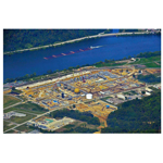 The Natrium Gas Processing and Fractionation Plant is located along the Ohio River in Marshall County, West Virginia. (Photo: Business Wire)