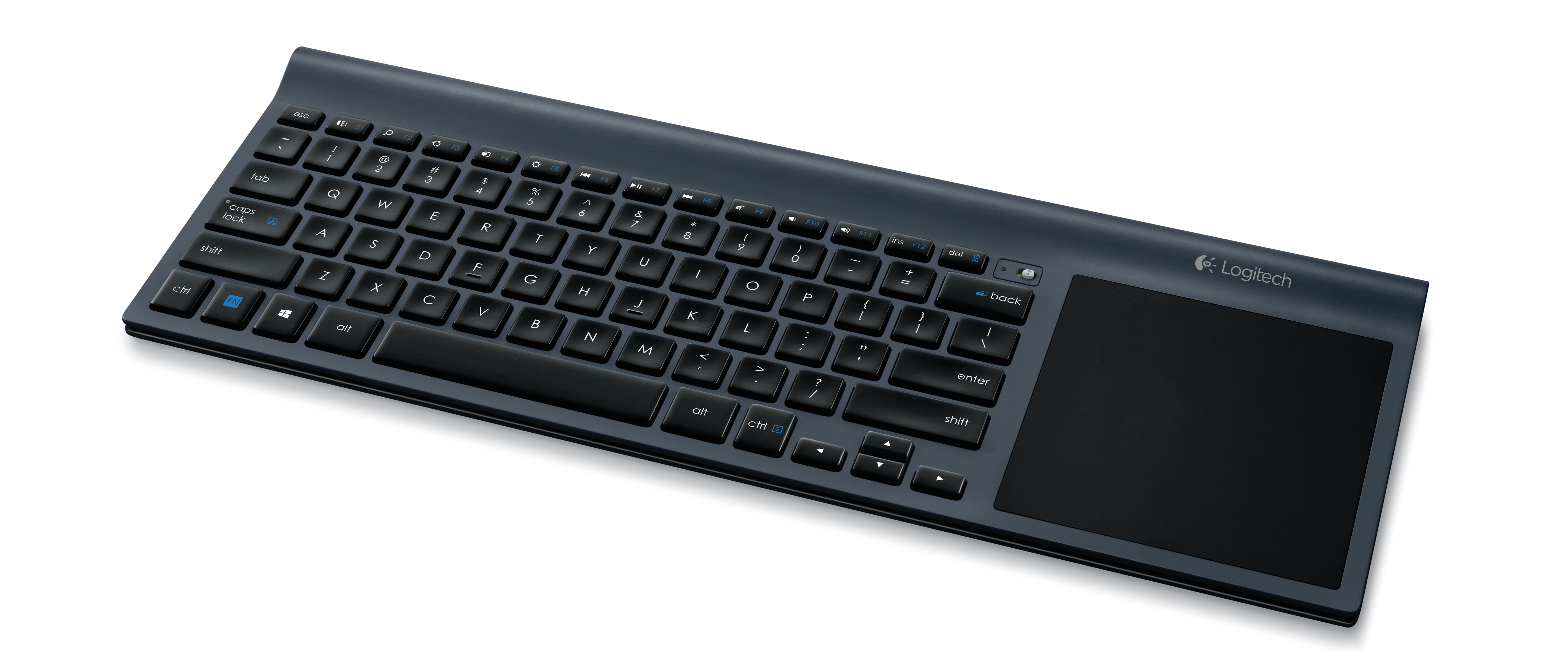 Logitech Wireless All-in-One Keyboard TK820 Streamlines Navigation with Large Built-in Touchpad ...