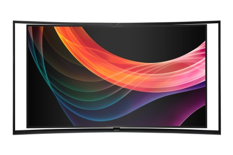 "Samsung launches new 55-inch Curved OLED TV delivering ""Life in Every Pixel."" (Photo: Business Wire)"