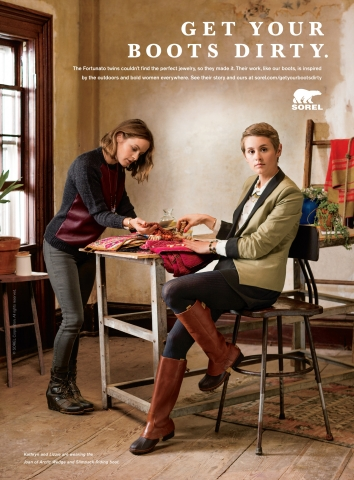 "SOREL(R) 2013 ""GET YOUR BOOTS DIRTY"" CAMPAIGN (Photo: Business Wire)"