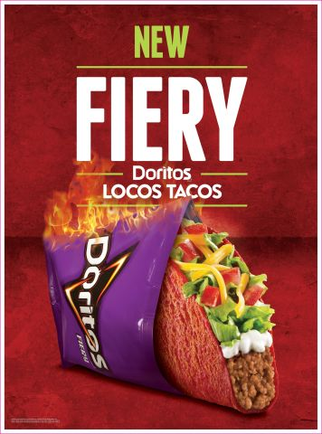 Fiery Doritos(R) Locos Tacos to Heat up Taco Bell(R) Restaurants August 22 (Photo: Business Wire)