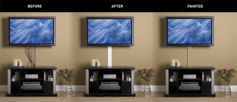 how to hide tv cords in student housing. Black Bedroom Furniture Sets. Home Design Ideas