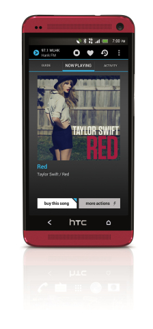 Sprint is the first U.S. wireless carrier to offer access to the new NextRadio(R) interactive FM radio application beginning with HTC One(R) and HTC EVO(R) 4G LTE (Graphic: Sprint)