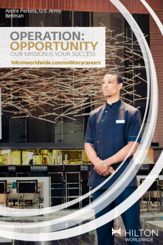 Hilton Worldwide has launched Operation: Opportunity, an initiative to help veterans and their families. (Photo: Business Wire)