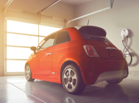 AeroVironment has been selected by FIAT as its preferred provider of home charging stations and installations for its all-new, all-electric Fiat 500e. (Photo: Business Wire)