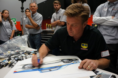 Chip Foose sketching the new WD-40®/SEMA Cares Foose Ford F-150. (Photo: Business Wire)