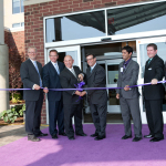 Hyatt Place Detroit/Novi celebrated its opening with a ribbon cutting event on Tuesday. Left to right: Clay Pearson, City Manager of Novi; Mathew Gibb, Deputy Oakland County Executive; City of Novi Mayor Bob Gatt; Blair Bowman, President of BOCO Enterprises, Inc; Dave Biswas, Legislative Director to Michigan State Senator Mike Kowall; Ryan Gauthier, Hyatt Place Detroit/Novi General Manager; and Hugh Crawford, Michigan State Representative. Photo credit: Linda Michele-Dobel