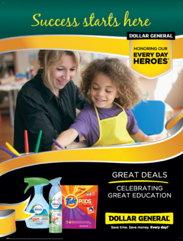 Dollar General is proud to support initiatives that help others improve their lives through literacy and education.
