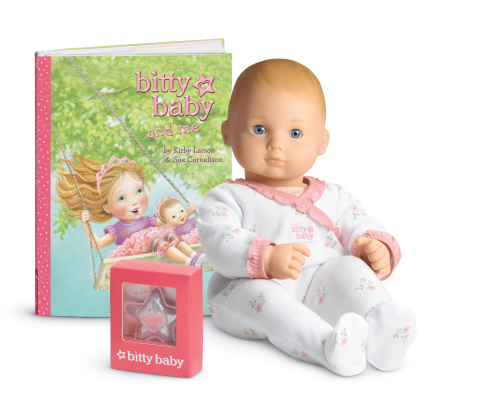 American Girl's newly enhanced Bitty Baby doll and Bitty Baby and Me picture book by Kirby Larson. ( ...