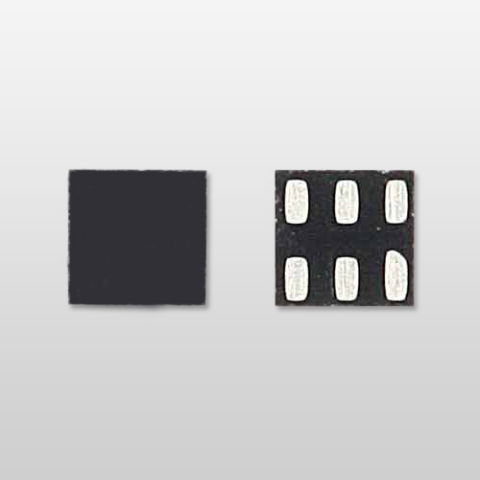 Toshiba small-size 1.0 x 1.0 mm leadless sMP6 package one-gate logic IC: TC7SZ32MX (Photo: Business  ...