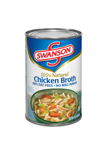"80 cases of canned pasta mislabeled as ""Swanson"" 100% Natural Chicken Broth are being voluntarily re ..."