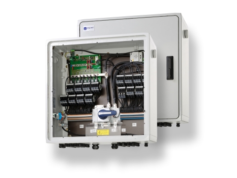 skytron energy's new ArrayGuard FH combiner box. (Photo: Business Wire)