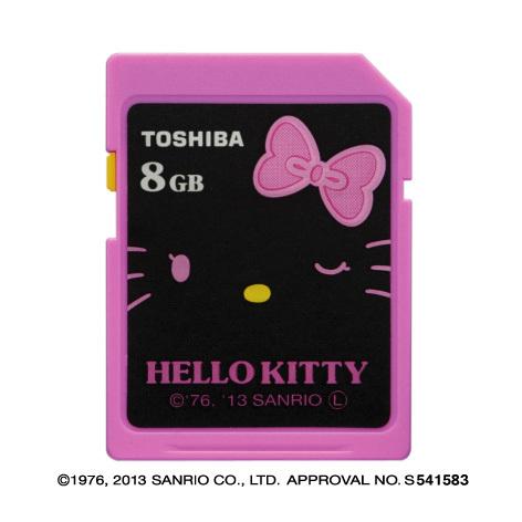 東芝:ハローキティをデザインしたSDHCメモリカード(写真:ビジネスワイヤ)