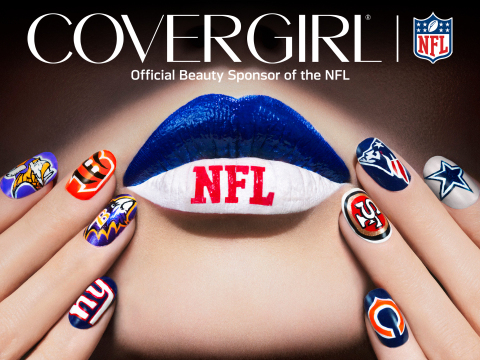 COVERGIRL and NFL team up to put football's female fans on offense with team-inspired nail looks for spirit all season long (Photo: Business Wire)
