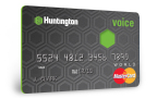 The new Voice(TM) card from Huntington offers customers the choice of triple rewards or a lower interest rate, with the added benefit of Late Fee Grace(TM). (Graphic: Business Wire)