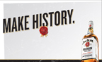 Beam announces Make History(TM), its first ever global brand campaign for Jim Beam, which rolls out later this year in more than 100 markets.
