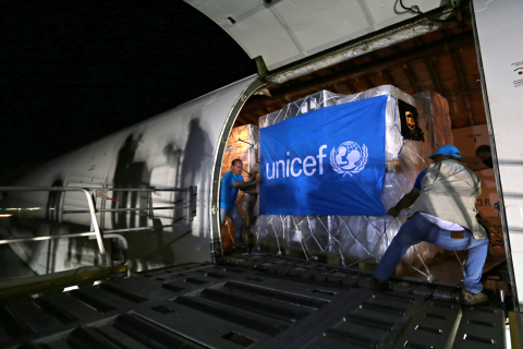 The UPS Foundation, the philanthropic arm of UPS, and UNICEF, partnered to airfreight 220,000 pounds ...