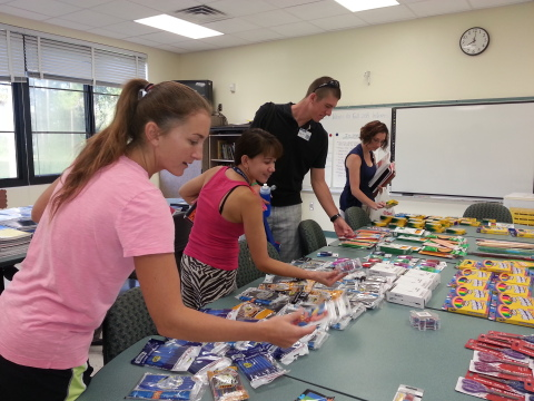 Teachers at Woodland Acres Elementary School, Duval County, Fla., select much-needed supplies for their classrooms donated by employees of The Main Street America Group. (Photo: Business Wire)