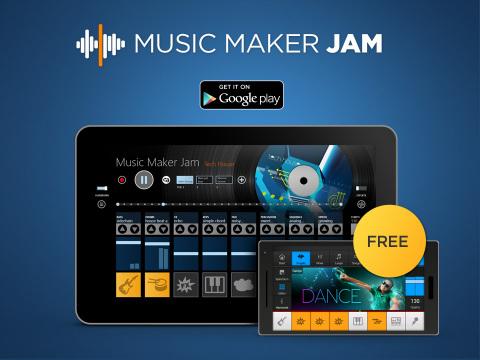 Maintenant aussi pour Android: Music Maker Jam de MAGIX (Photo: Business Wire)