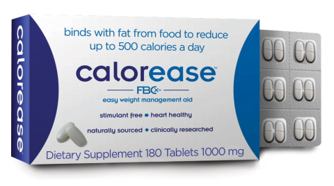 Calorease- 180 Tablet Pack (Photo: Business Wire)