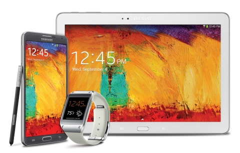 The Galaxy Note 3, Galaxy Gear, and Galaxy Note 10.1 - 2014 Edition (Photo: Business Wire)