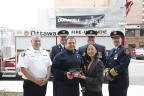 On Saturday at the Canadian Volunteer Fire Services Association (CVFSA) annual general conference Duracell announced that to celebrate the launch of its new Quantum(TM) battery it is donating one million Quantum batteries to emergency first responders across North America. (Photo: Business Wire)