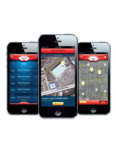 PulsePoint CPR/AED smartphone app (Photo: Business Wire)