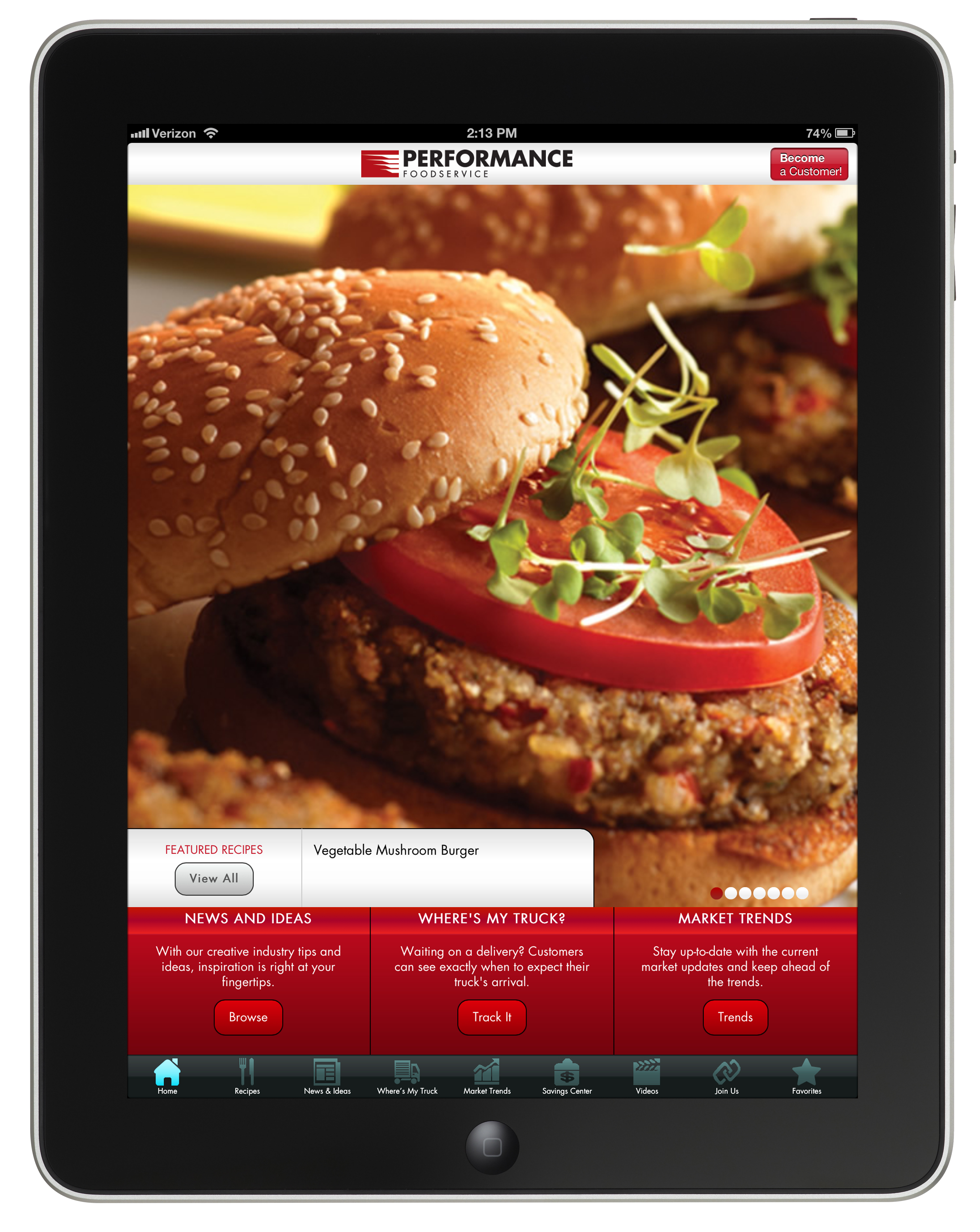 New ios app from performance foodservice enables customers to track new ios app from performance foodservice enables customers to track deliveries discover new recipes and review market trends business wire forumfinder Image collections