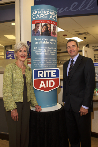 U.S. Dept. of Health and Human Services Secretary Kathleen Sebelius joined Rite Aid Chairman and Chi ...