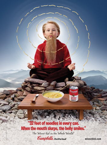 "Campbell Soup Company (NYSE:CPB) today announced that it has ""discovered"" The Wisest Kid in the Whole World(TM), an eternally eight-year-old boy who embodies the collective wisdom of kids everywhere. (Photo: Business Wire)"