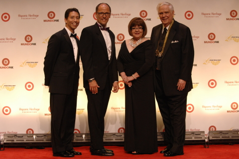 Pictured from left to right are Joseph Perea, ExxonMobil; Tom Perez, US Secretary of Labor; Margaret ...
