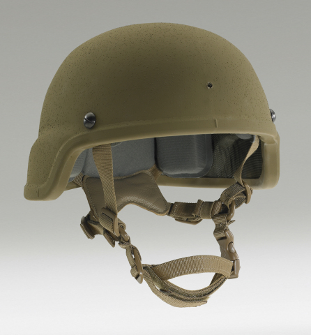 Enhanced Combat Helmet designed by Ceradyne Inc., a 3M company. (Photo: Business Wire)