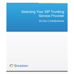 """Selecting Your SIP Trunking Provider: Six Key Considerations"" by Broadvox"
