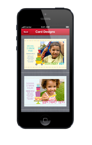 Walgreens photo cards with special occasion themes (Photo: Business Wire)