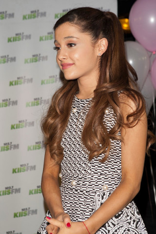 Flipeez patented action hats sponsored Ariana Grande's Album Listening Party at KIIS FM Studios on September 10, 2013 (Photo: Business Wire)