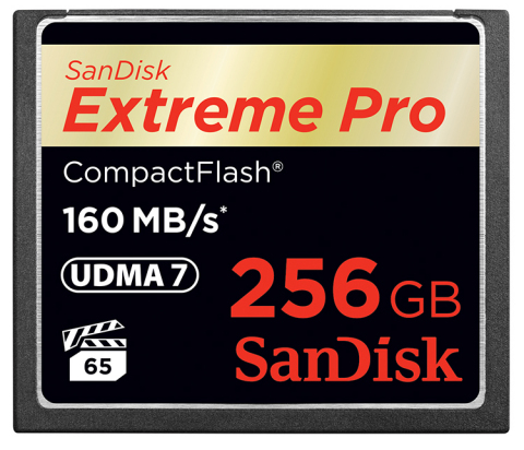 The 256GB SanDisk Extreme Pro(R) CompactFlash(R) memory card is the world's first high-capacity, hig ...