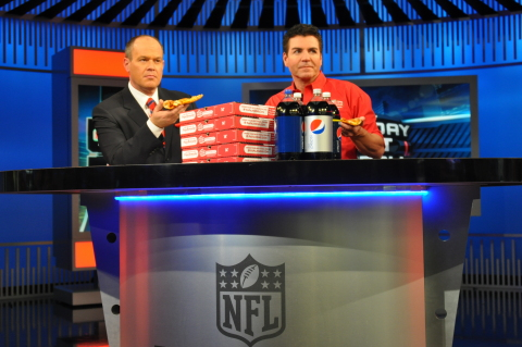 NFL Network host, Rich Eisen, and Papa John's founder, chairman and CEO, John Schnatter, star in a c ...