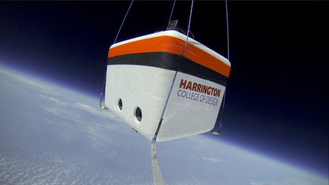 Harrington College of Design students took the first ever photograph of the earth from the stratosph ...