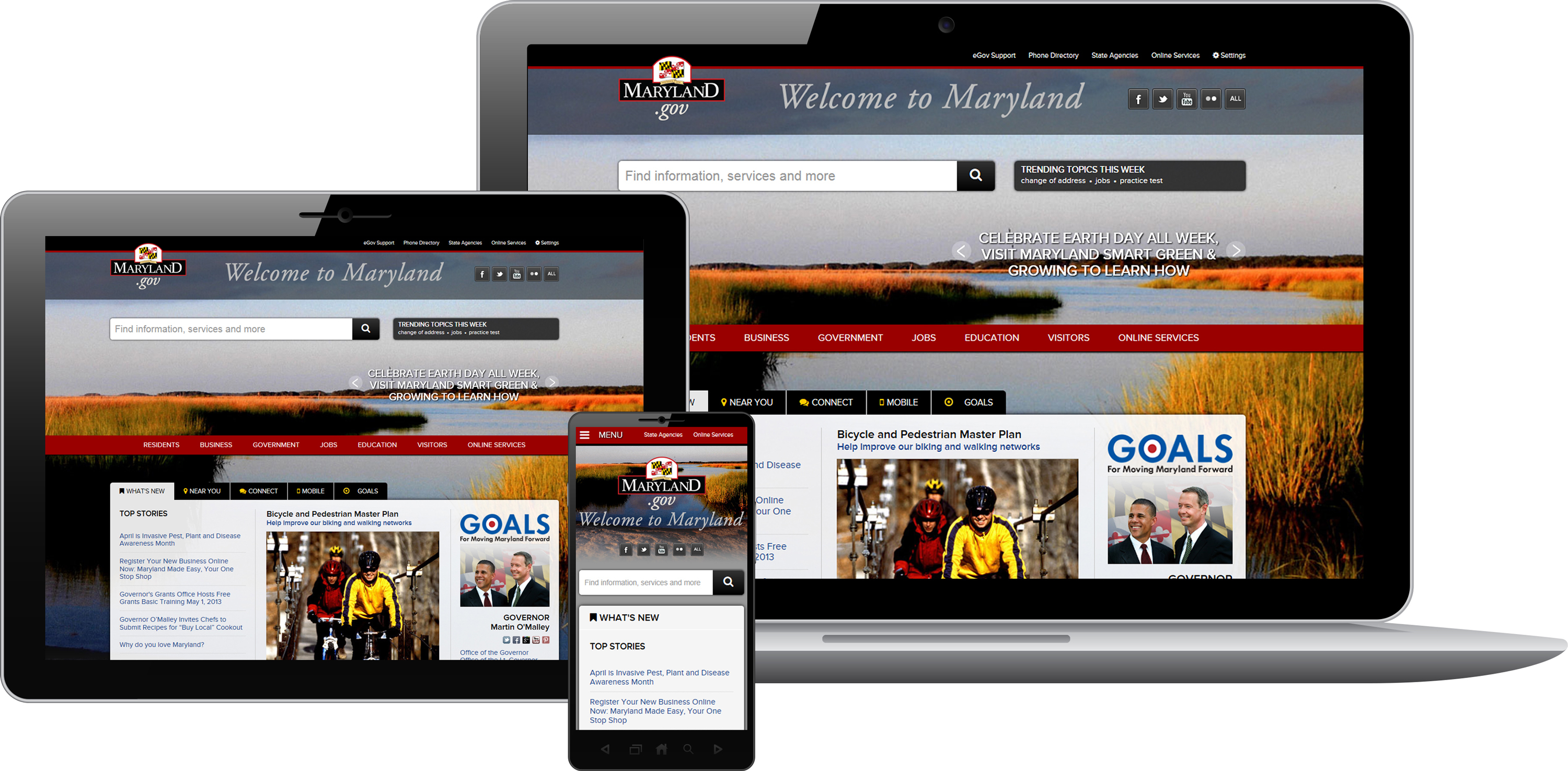 Maryland.gov Wins Best in Class 2013 Interactive Media Award (Photo: Business Wire)