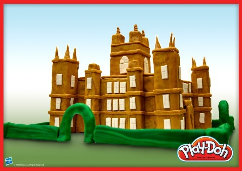 This Crawley family estate is made of 100% PLAY-DOH compound! Hasbro Inc. and the PLAY-DOH brand hav ...