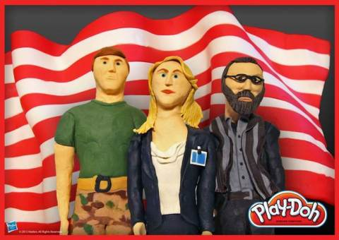 Carrie, Brody, and Saul take new shape with PLAY-DOH compound! Hasbro Inc. and the PLAY-DOH brand have sculpted this team from Langley out of 100% PLAY-DOH compound in celebration of National PLAY-DOH Day on September 16, 2013. Be sure to visit the PLAY-DOH Facebook page to check out the other Drama Series nominees in PLAY-DOH form: https://www.facebook.com/playdoh (Photo: Business Wire)