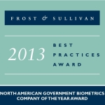 Frost & Sullivan evaluated MorphoTrust and key competitors based on growth strategy excellence, product and technology innovation, leadership in customer value and leadership in market penetration. Among the judging criteria, MorphoTrust's solutions and services stood out as the clear leader in government biometrics. (Graphic: Business Wire)