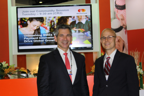 From left: Ed Glassman, group executive, Global Commercial Products & Solutions MasterCard and D.J. ...